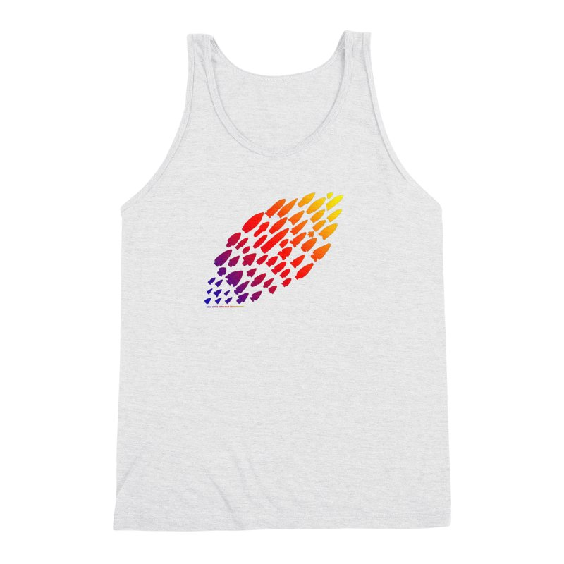 Iowa Projectile Points (Rainbow, Version 1) Men's Triblend Tank by Iowa Archaeology Gifts, Prints, & Apparel