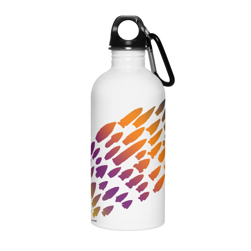 Iowa Projectile Points (Rainbow, Version 2) Accessories Water Bottle by Iowa Archaeology Gifts, Prints, & Apparel