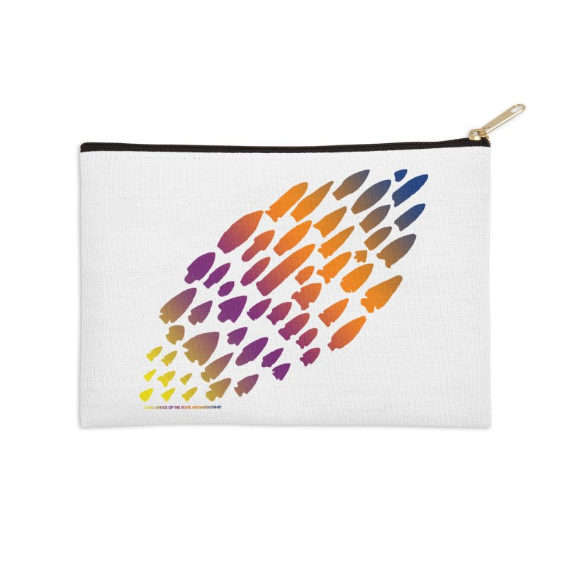 Iowa Projectile Points (Rainbow, Version 2) Accessories Zip Pouch by Iowa Archaeology Gifts, Prints, & Apparel