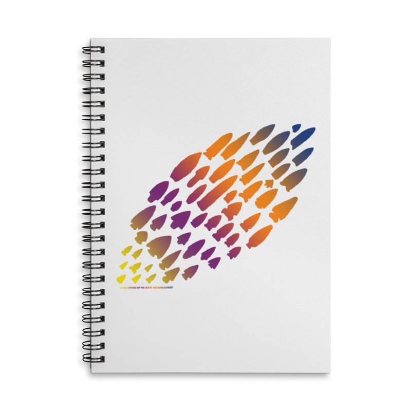 Iowa Projectile Points (Rainbow, Version 2) Accessories Lined Spiral Notebook by Iowa Archaeology Gifts, Prints, & Apparel