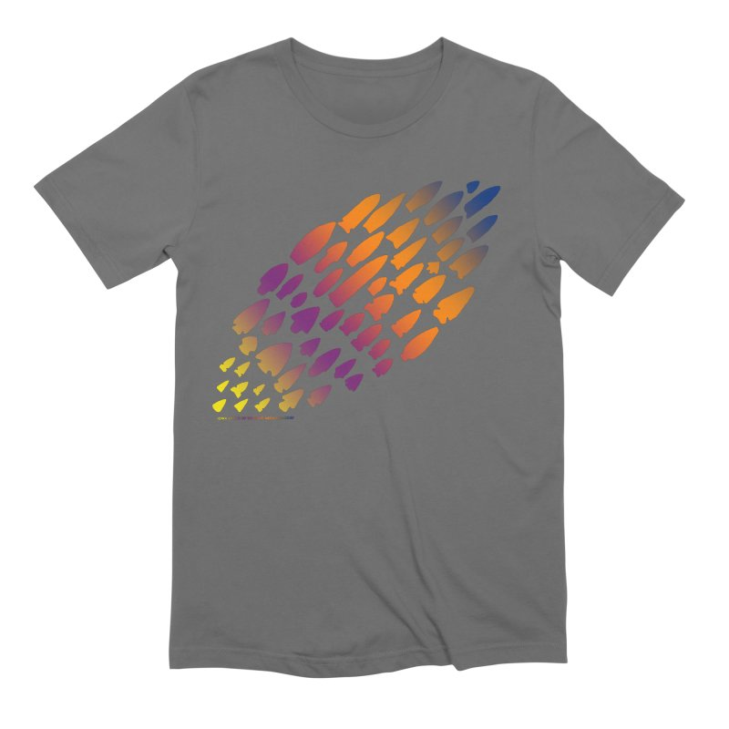 Iowa Projectile Points (Rainbow, Version 2) Men's T-Shirt by Iowa Archaeology Gifts, Prints, & Apparel