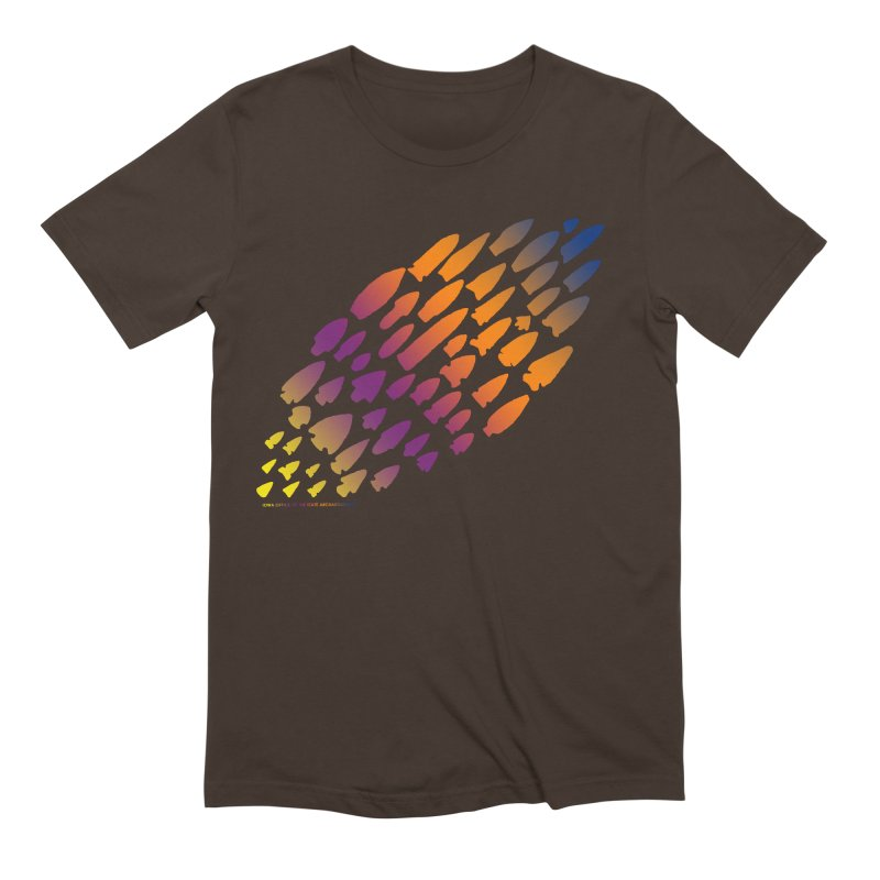 Iowa Projectile Points (Rainbow, Version 2) Men's Extra Soft T-Shirt by Iowa Archaeology Gifts, Prints, & Apparel