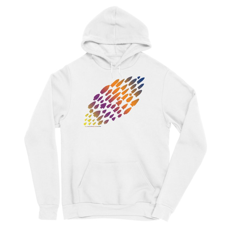 Iowa Projectile Points (Rainbow, Version 2) Women's Pullover Hoody by Iowa Archaeology Gifts, Prints, & Apparel