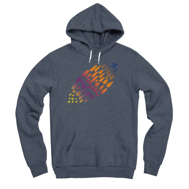 Iowa Projectile Points (Rainbow, Version 2) Men's Pullover Hoody by Iowa Archaeology Gifts, Prints, & Apparel