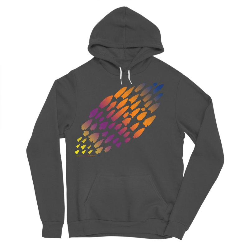 Iowa Projectile Points (Rainbow, Version 2) Women's Sponge Fleece Pullover Hoody by Iowa Archaeology Gifts, Prints, & Apparel