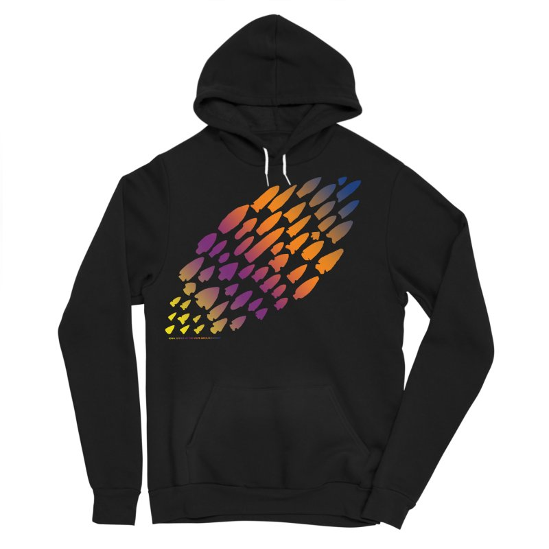 Iowa Projectile Points (Rainbow, Version 2) Men's Sponge Fleece Pullover Hoody by Iowa Archaeology Gifts, Prints, & Apparel