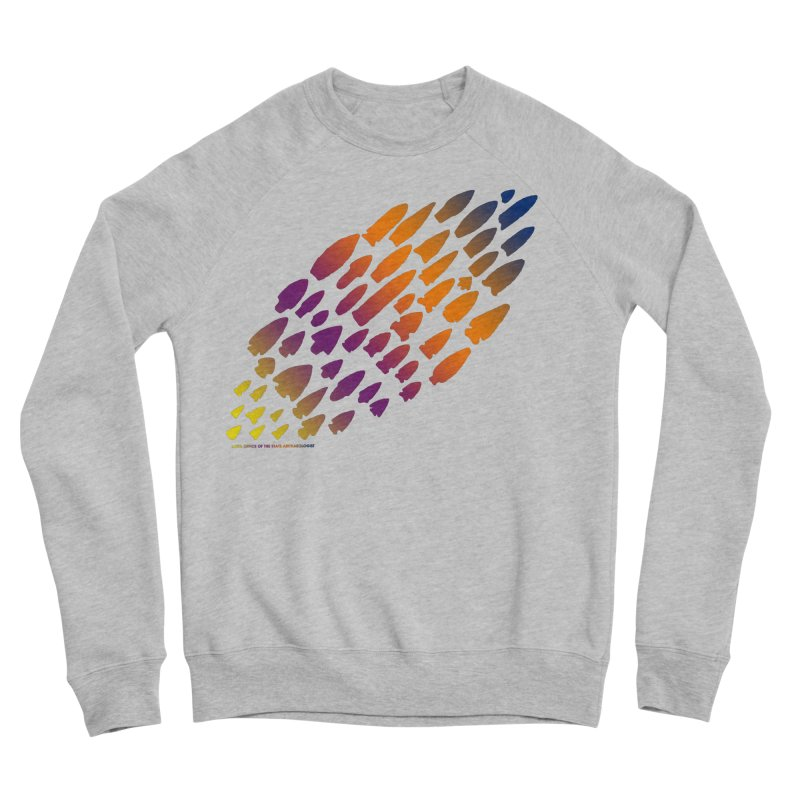 Iowa Projectile Points (Rainbow, Version 2) Men's Sponge Fleece Sweatshirt by Iowa Archaeology Gifts, Prints, & Apparel