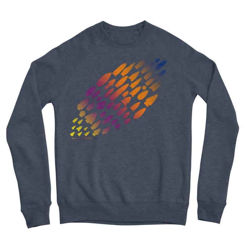Iowa Projectile Points (Rainbow, Version 2) Men's Sponge Fleece Sweatshirt by Iowa Archaeology Gifts, Prints, & Apparel