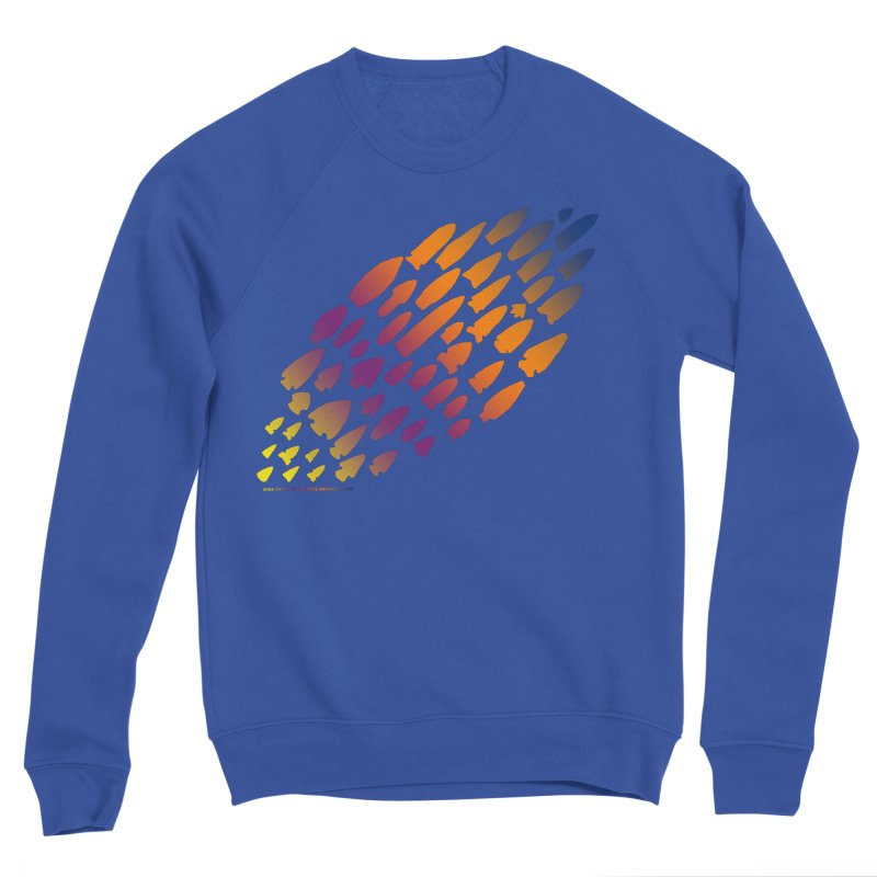 Iowa Projectile Points (Rainbow, Version 2) Men's Sweatshirt by Iowa Archaeology Gifts, Prints, & Apparel