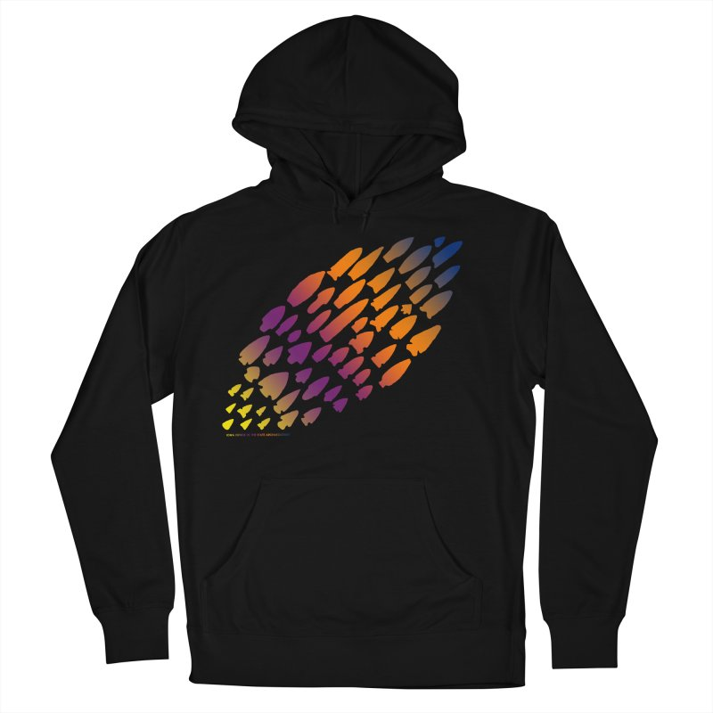 Iowa Projectile Points (Rainbow, Version 2) Women's French Terry Pullover Hoody by Iowa Archaeology Gifts, Prints, & Apparel