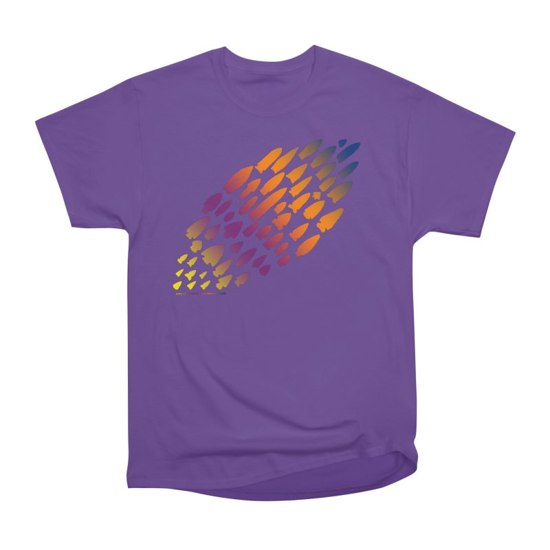 Iowa Projectile Points (Rainbow, Version 2) Women's Heavyweight Unisex T-Shirt by Iowa Archaeology Gifts, Prints, & Apparel
