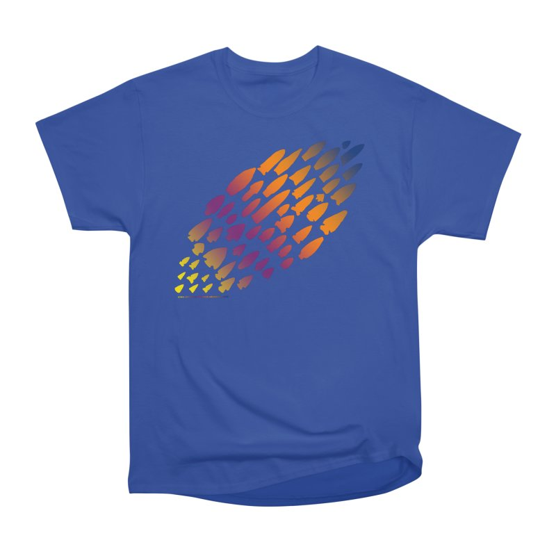 Iowa Projectile Points (Rainbow, Version 2) Men's Heavyweight T-Shirt by Iowa Archaeology Gifts, Prints, & Apparel
