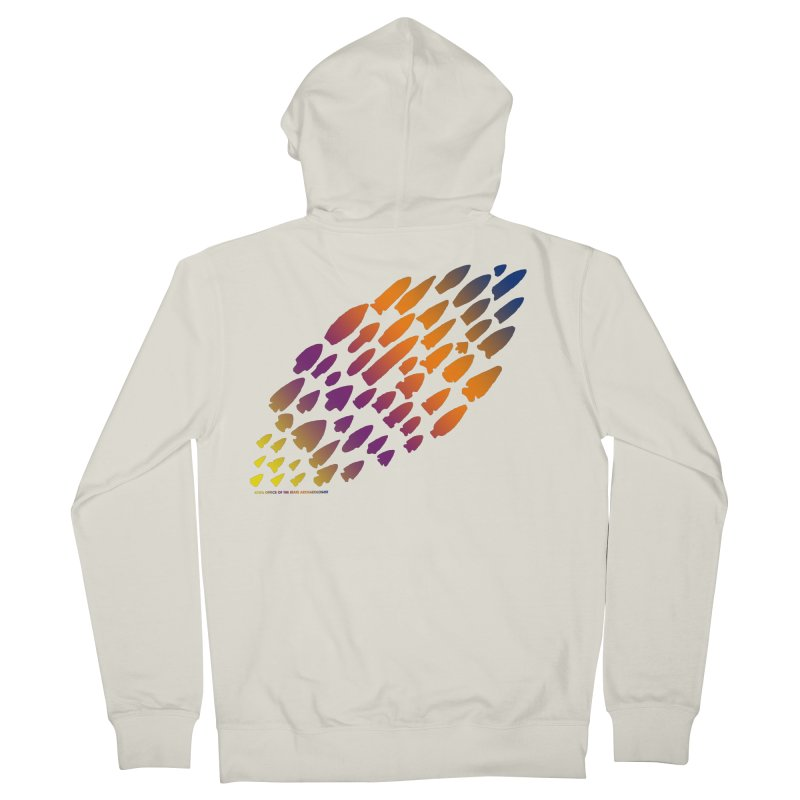 Iowa Projectile Points (Rainbow, Version 2) Men's French Terry Zip-Up Hoody by Iowa Archaeology Gifts, Prints, & Apparel