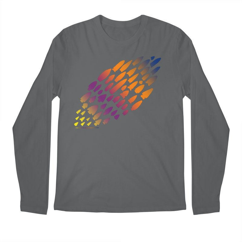 Iowa Projectile Points (Rainbow, Version 2) Men's Longsleeve T-Shirt by Iowa Archaeology Gifts, Prints, & Apparel