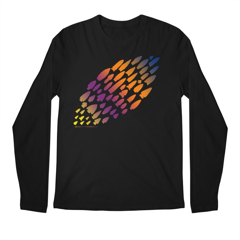 Iowa Projectile Points (Rainbow, Version 2) Men's Regular Longsleeve T-Shirt by Iowa Archaeology Gifts, Prints, & Apparel