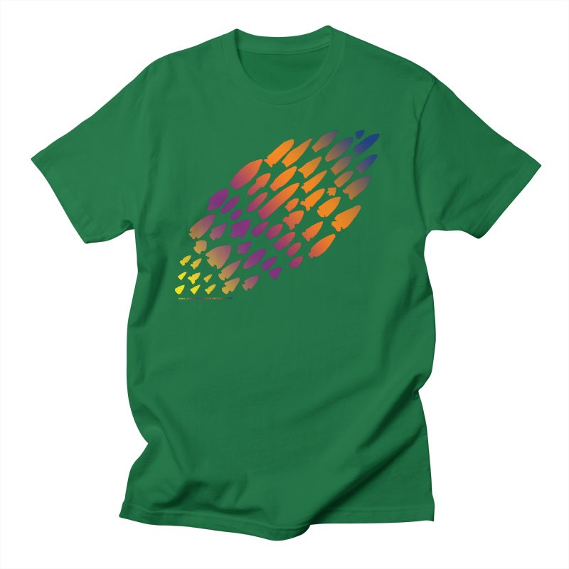 Iowa Projectile Points (Rainbow, Version 2) Women's Regular Unisex T-Shirt by Iowa Archaeology Gifts, Prints, & Apparel