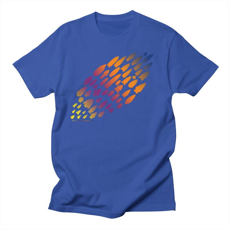 Iowa Projectile Points (Rainbow, Version 2) Men's Regular T-Shirt by Iowa Archaeology Gifts, Prints, & Apparel