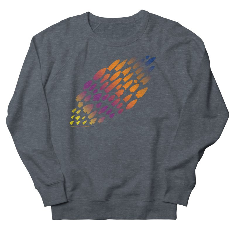 Iowa Projectile Points (Rainbow, Version 2) Women's French Terry Sweatshirt by Iowa Archaeology Gifts, Prints, & Apparel