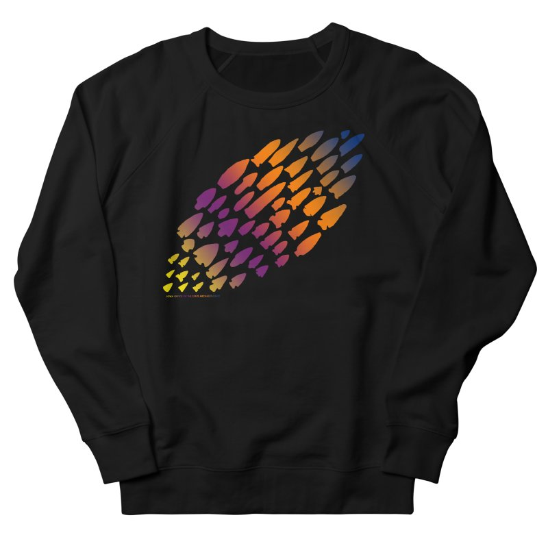 Iowa Projectile Points (Rainbow, Version 2) Men's French Terry Sweatshirt by Iowa Archaeology Gifts, Prints, & Apparel