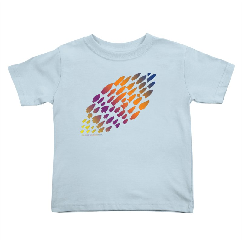 Iowa Projectile Points (Rainbow, Version 2) Kids Toddler T-Shirt by Iowa Archaeology Gifts, Prints, & Apparel