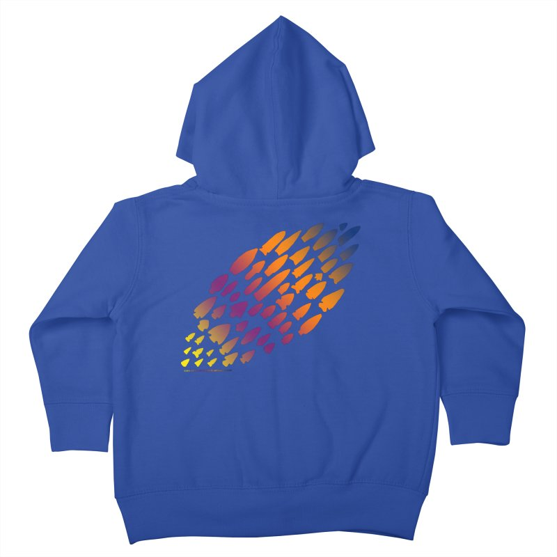 Iowa Projectile Points (Rainbow, Version 2) Kids Toddler Zip-Up Hoody by Iowa Archaeology Gifts, Prints, & Apparel