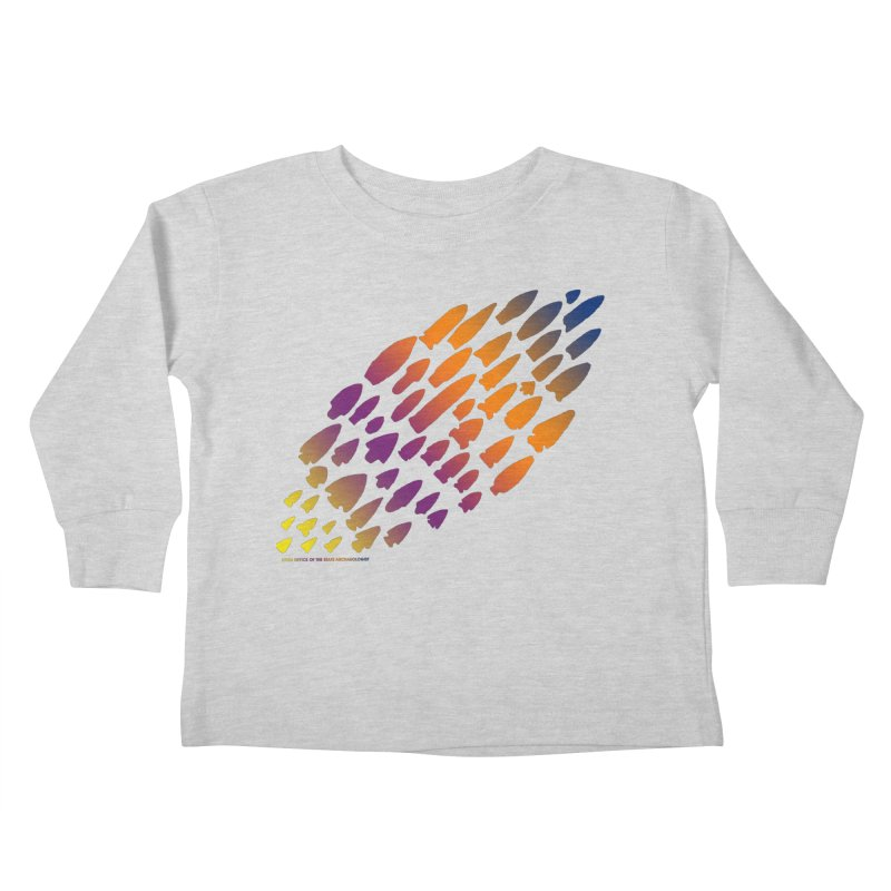 Iowa Projectile Points (Rainbow, Version 2) Kids Toddler Longsleeve T-Shirt by Iowa Archaeology Gifts, Prints, & Apparel