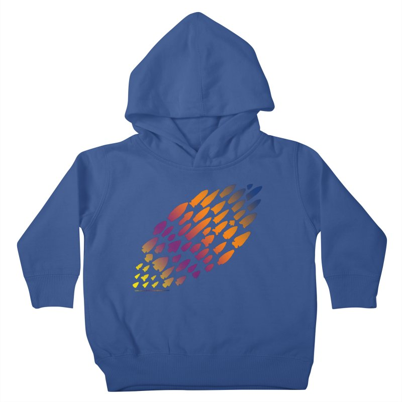 Iowa Projectile Points (Rainbow, Version 2) Kids Toddler Pullover Hoody by Iowa Archaeology Gifts, Prints, & Apparel