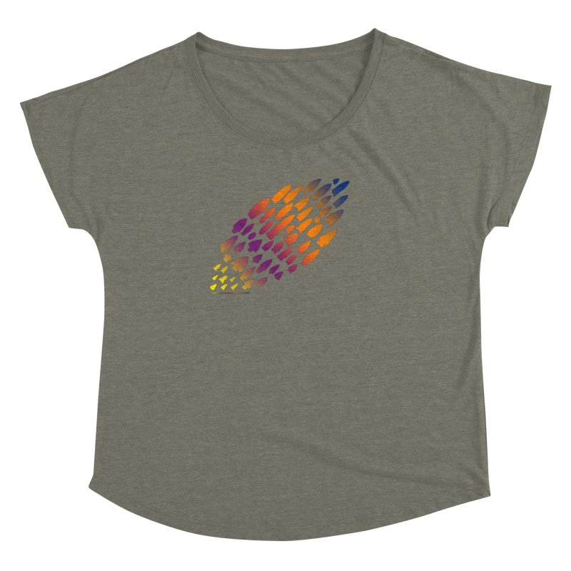 Iowa Projectile Points (Rainbow, Version 2) Women's Dolman Scoop Neck by Iowa Archaeology Gifts, Prints, & Apparel