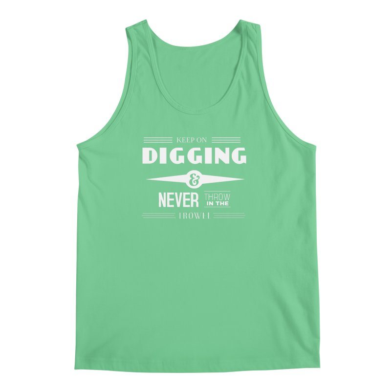 Keep On Digging (White) Men's Regular Tank by Iowa Archaeology Gifts, Prints, & Apparel
