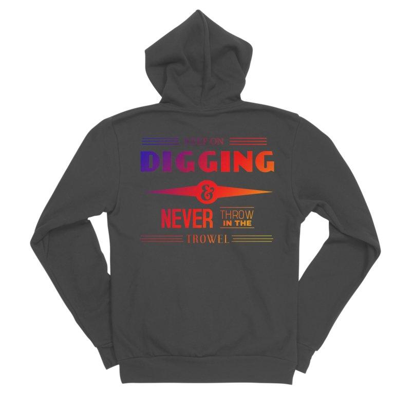Keep On Digging (Rainbow) Men's Sponge Fleece Zip-Up Hoody by Iowa Archaeology Gifts, Prints, & Apparel