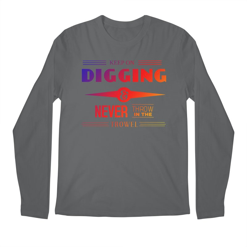 Keep On Digging (Rainbow) Men's Regular Longsleeve T-Shirt by Iowa Archaeology Gifts, Prints, & Apparel
