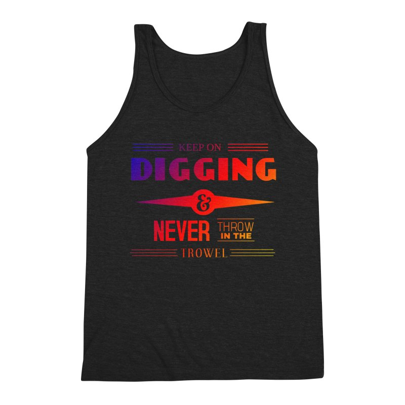 Keep On Digging (Rainbow) Men's Tank by Iowa Archaeology Gifts, Prints, & Apparel