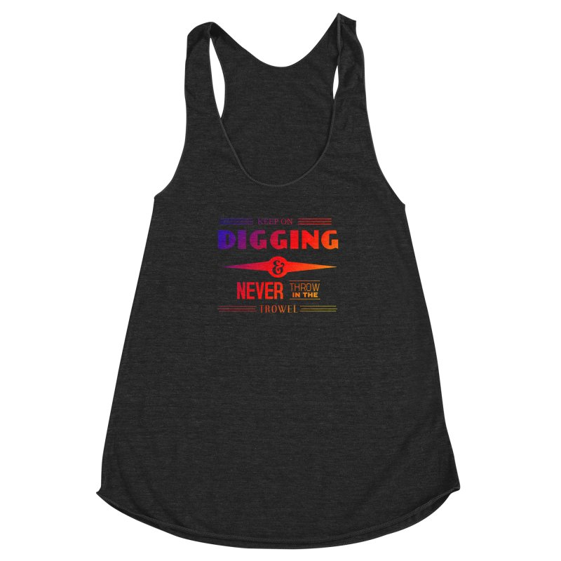 Keep On Digging (Rainbow) Women's Racerback Triblend Tank by Iowa Archaeology Gifts, Prints, & Apparel