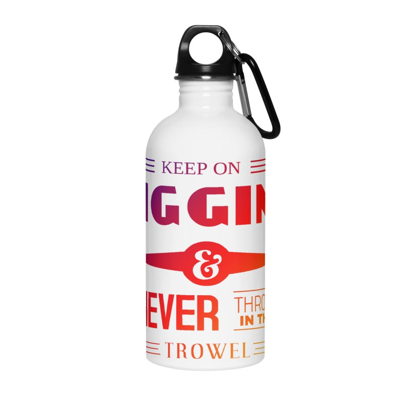 Keep On Digging (Rainbow) Accessories Water Bottle by Iowa Archaeology Gifts, Prints, & Apparel