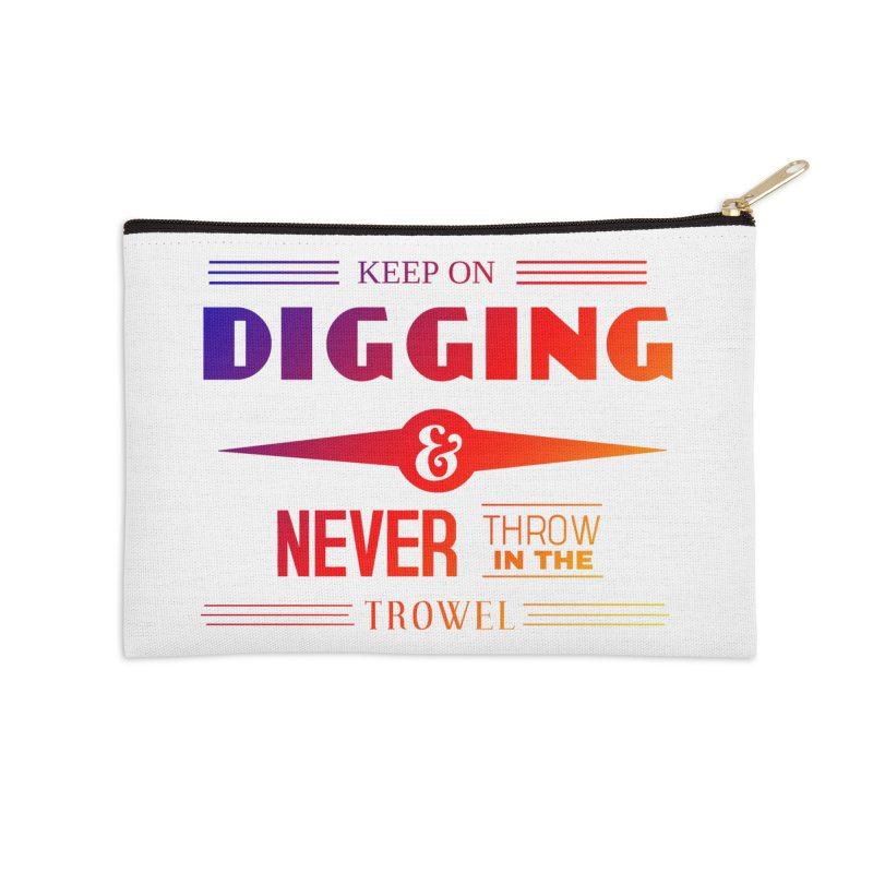 Keep On Digging (Rainbow) Accessories Zip Pouch by Iowa Archaeology Gifts, Prints, & Apparel