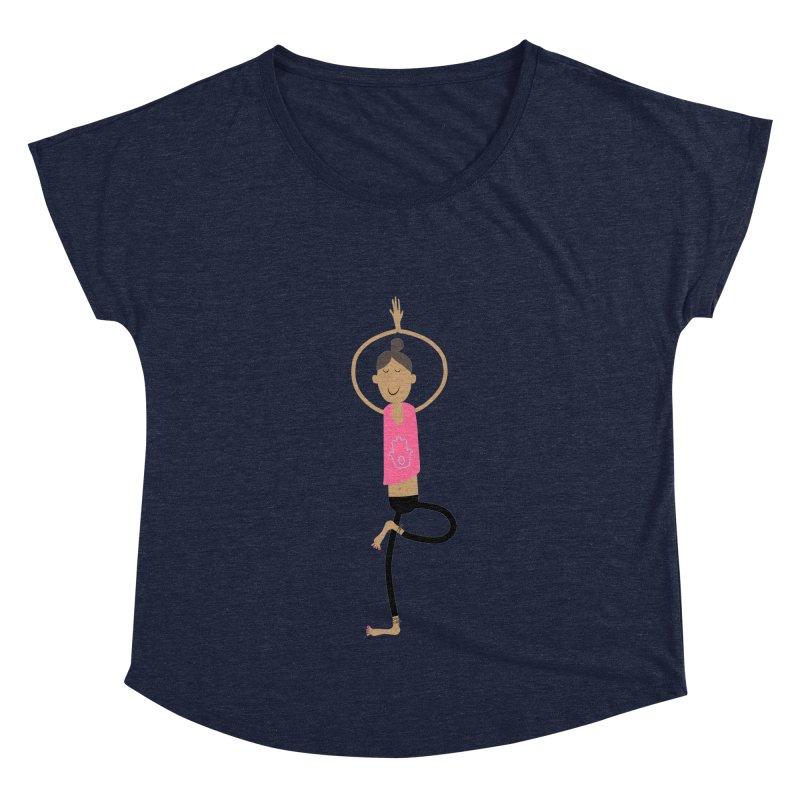 yogini Women's Dolman Scoop Neck by IreneL's Artist Shop