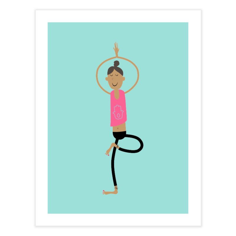 yogini Home Fine Art Print by IreneL's Artist Shop