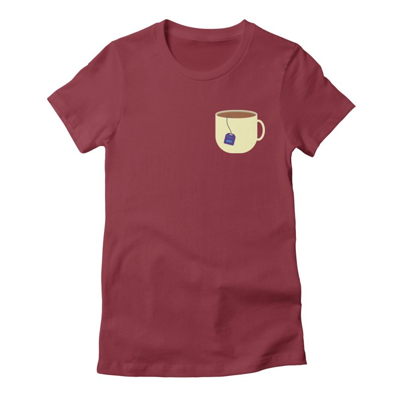 Tea shirt Women's Fitted T-Shirt by IreneL's Artist Shop