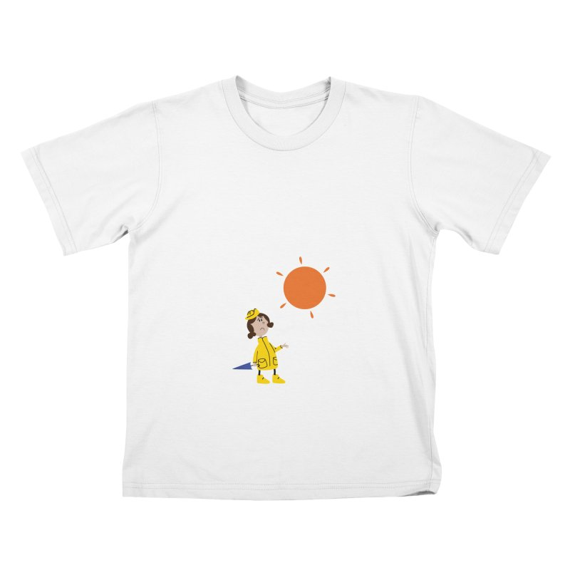 Sunny again?? (centered) Kids T-Shirt by IreneL's Artist Shop