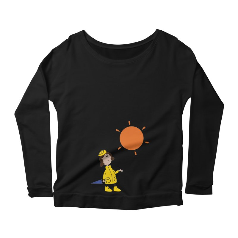 Sunny again?? (centered) Women's Scoop Neck Longsleeve T-Shirt by IreneL's Artist Shop