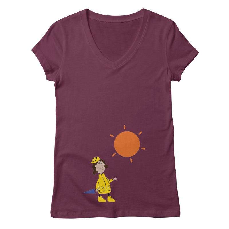 Sunny again?? (centered) Women's Regular V-Neck by IreneL's Artist Shop