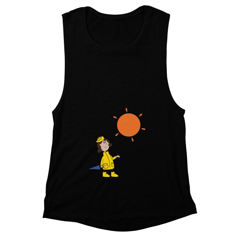 Sunny again?? (centered) Women's Muscle Tank by IreneL's Artist Shop
