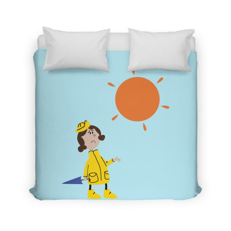 Sunny again?? (centered) Home Duvet by IreneL's Artist Shop