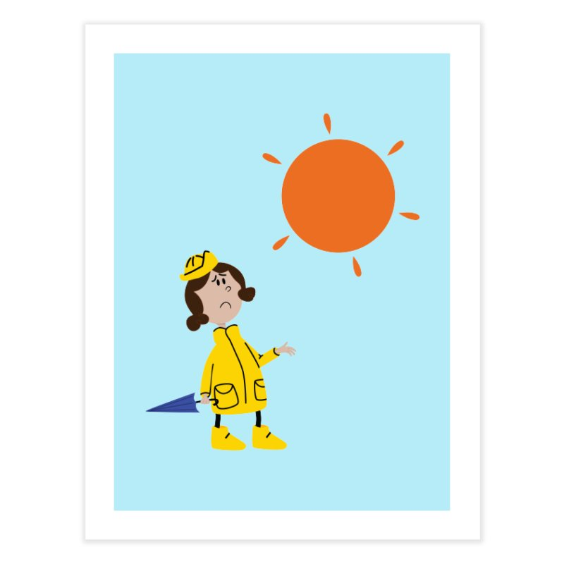 Sunny again?? (centered) Home Fine Art Print by IreneL's Artist Shop