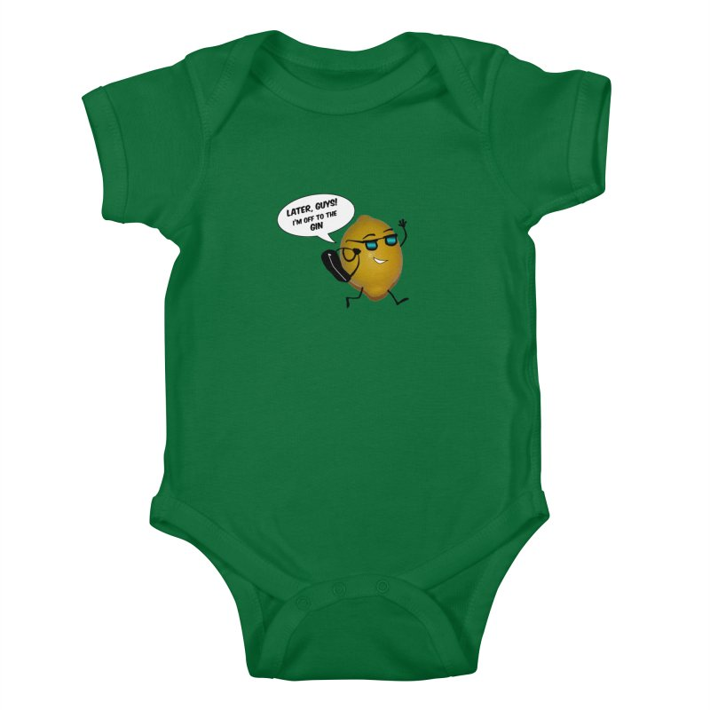 Off to the gin Kids Baby Bodysuit by IreneL's Artist Shop