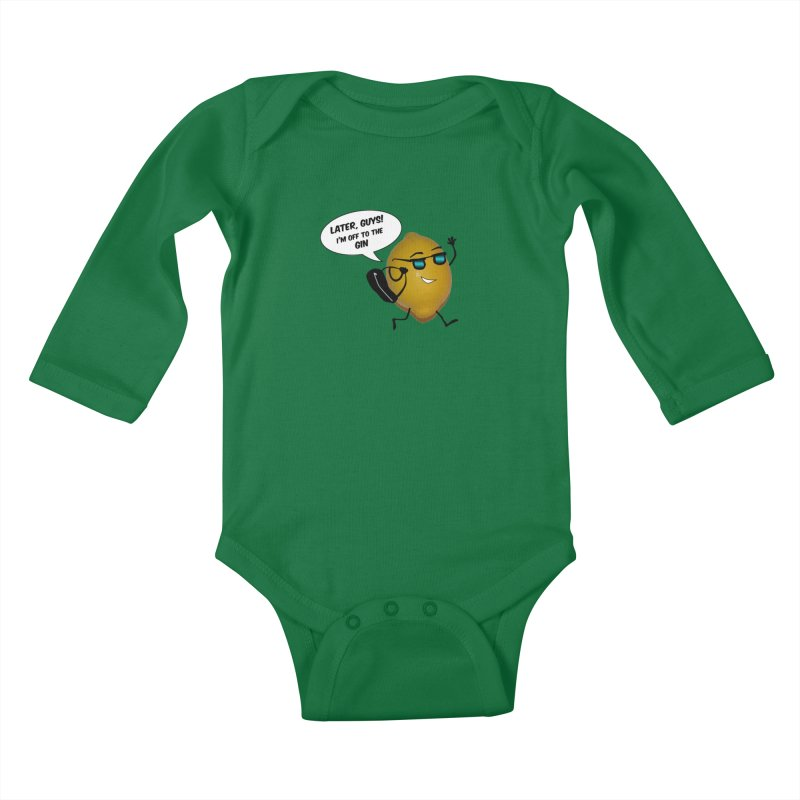 Off to the gin Kids Baby Longsleeve Bodysuit by IreneL's Artist Shop