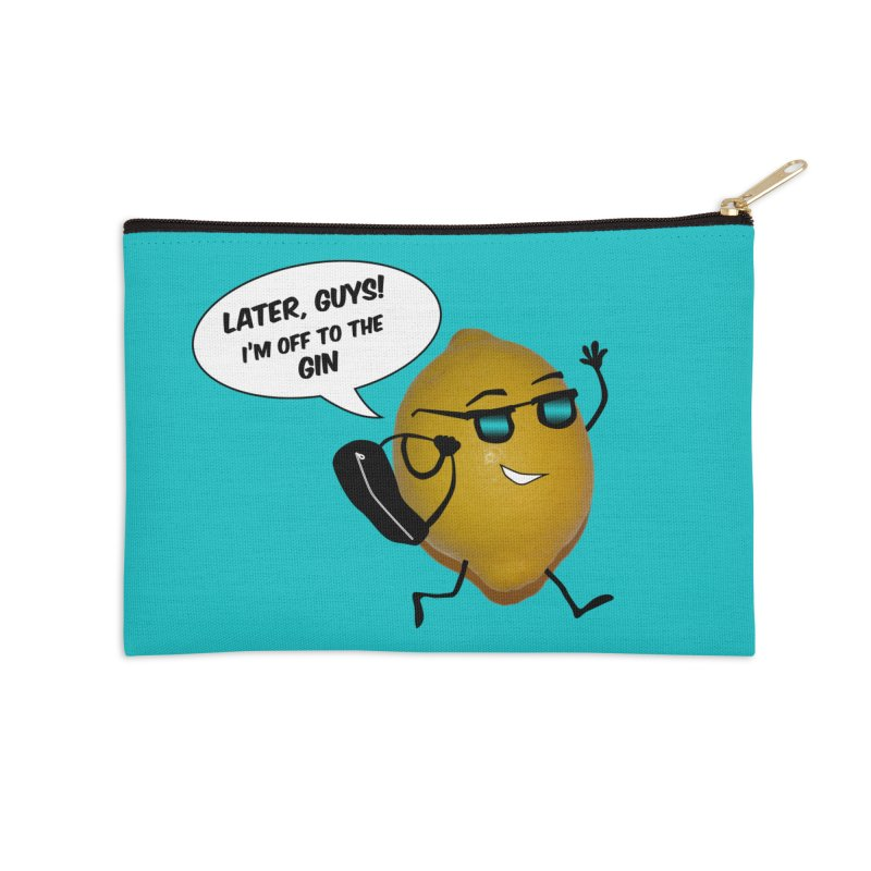 Off to the gin Accessories Zip Pouch by IreneL's Artist Shop