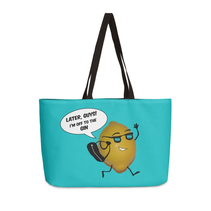Off to the gin Accessories Weekender Bag Bag by IreneL's Artist Shop