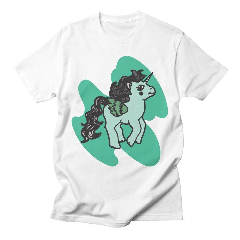 Unicorn Pony Men's T-Shirt by irinescu's Artist Shop