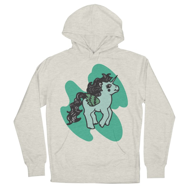 Unicorn Pony Women's French Terry Pullover Hoody by irinescu's Artist Shop